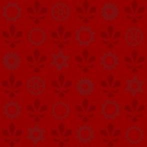 Steampunk Flur - Red