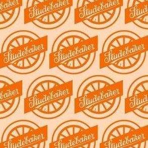 Studebaker 1920s Wheel Logo orange