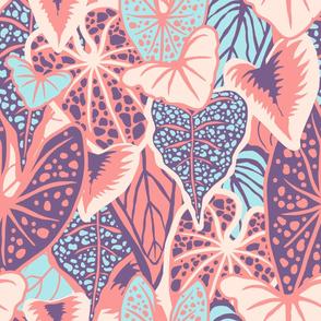 Tropical Foliage (large) - Pastel Palette
