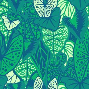Tropical Foliage (large) - Dark Green