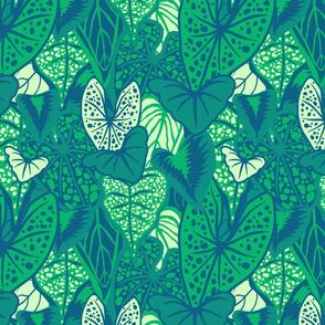 Tropical Foliage (medium) - Dark Green