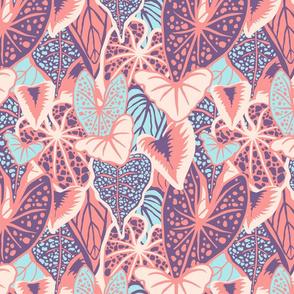 Tropical Foliage (medium) -Pastel Palette