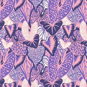 Tropical Foliage (medium) - Purple