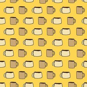 Mugs on Golden Yellow