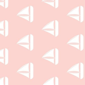 sailboats - nautical - pink  (90)  LAD19BS