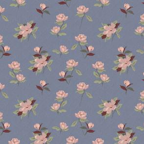 magnolia moody flowers-textured purple