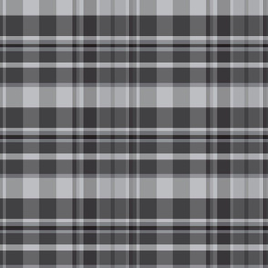 19-3AA Neutral Gray Black White Plaid