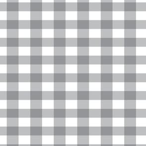 Gray and White Buffalo Plaid Pattern