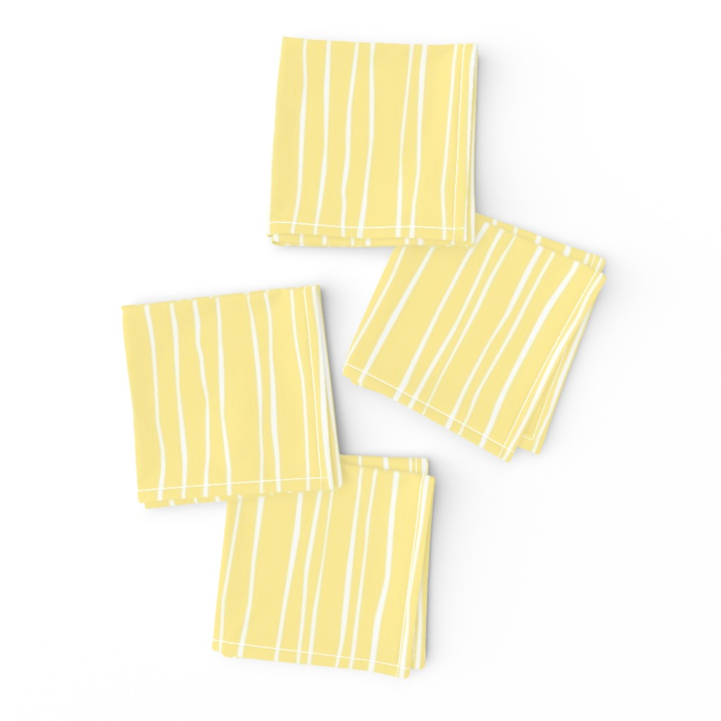 Frizzle Cocktail Napkins featuring Buttercup Stripe - Wide by autumn_musick