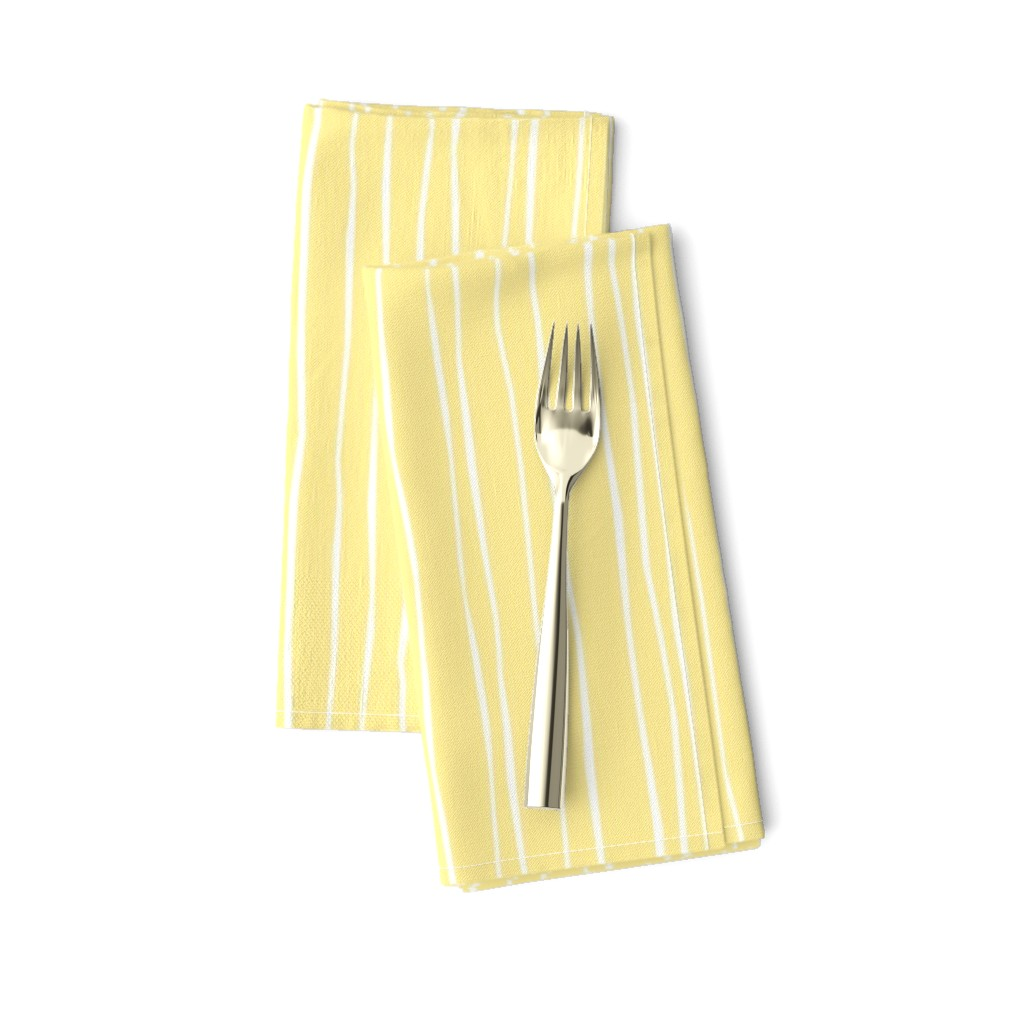 Amarela Dinner Napkins featuring Buttercup Stripe - Wide by autumn_musick