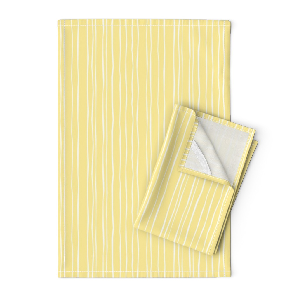 Orpington Tea Towels featuring Buttercup Stripe - Wide by autumn_musick