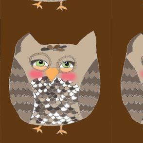 owl pillow {6 on a yard} chocolate