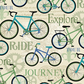 Bicycle Journey Blue