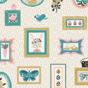 Spring Bunny Picture Frames - Wallpaper, Large Scale