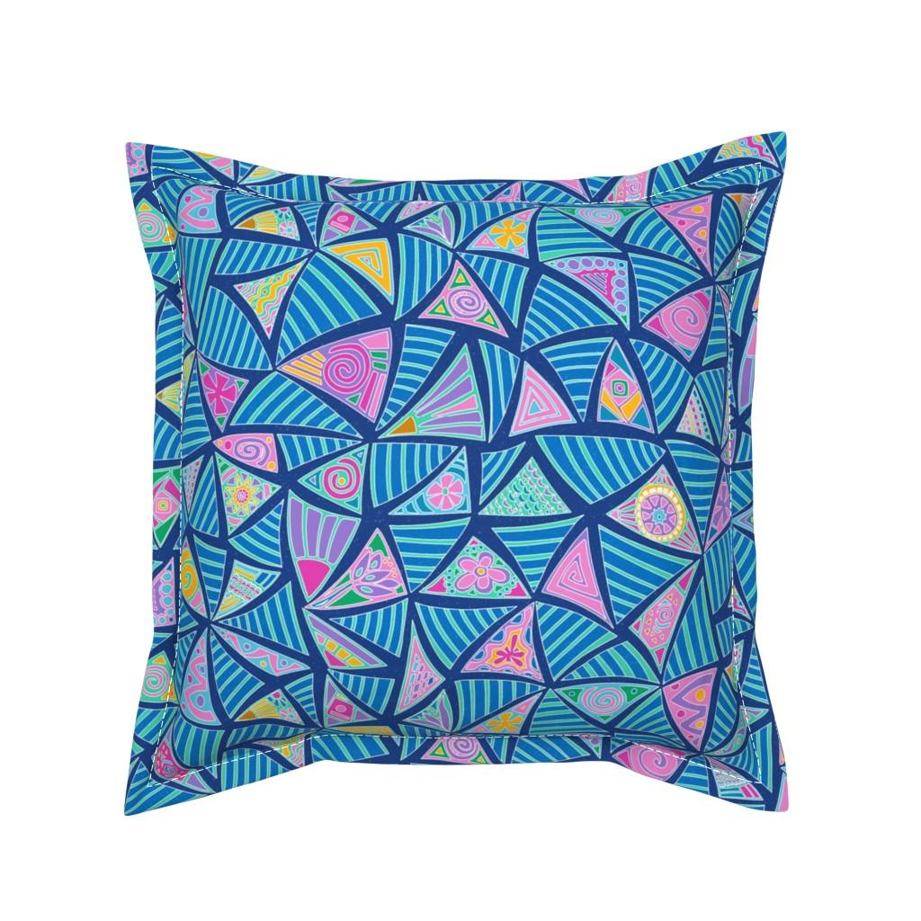 Serama Throw Pillow featuring pysanky scramble  by lalalamonique