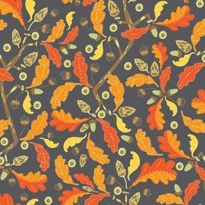 Ornamental Oak Leaves and Acorns