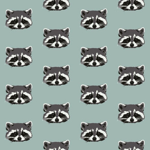 Randall the raccoon in robins egg blue - small