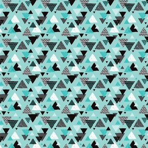Geometric triangle aztec illustration hand drawn pattern blue boys SMALL