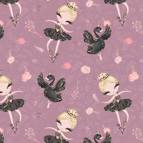 Ballerina Ballet plum swan