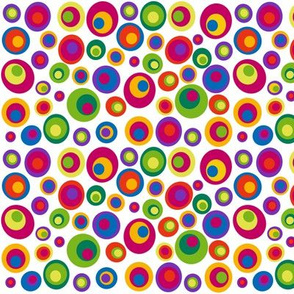 Small scale goggle eyes (eyes on the 60s) - brights on white