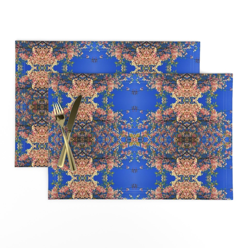 Lamona Cloth Placemats featuring Regal Blossom Lace by bravenewart