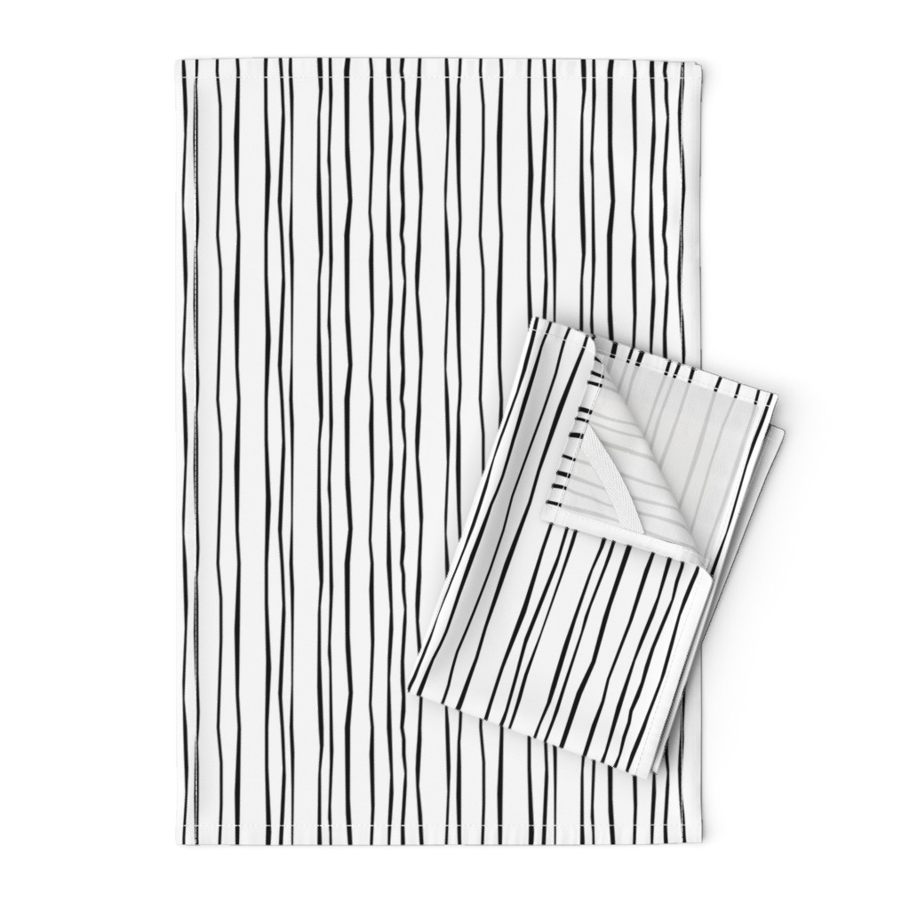 Orpington Tea Towels featuring Black Stripe - Narrow by autumn_musick