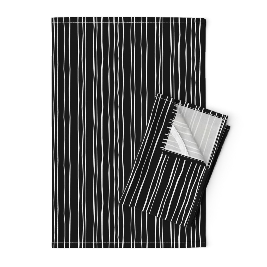 Orpington Tea Towels featuring Black Stripe - Wide by autumn_musick