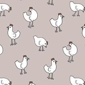Little chicken spring garden easter birds chicks illustration pattern gender neutral beige