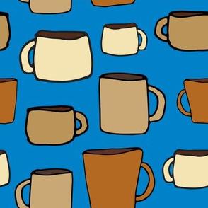 Large Mugs on Blue