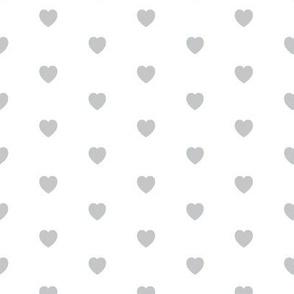 Simple Hearts Light Gray