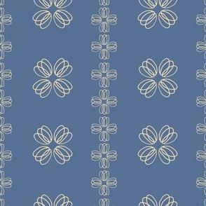 loopy flowers - blue
