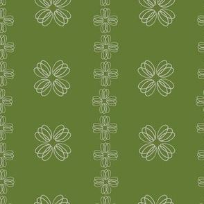 Loopy flowers - green