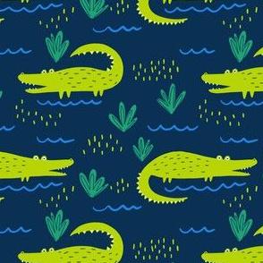 Gators on Blue
