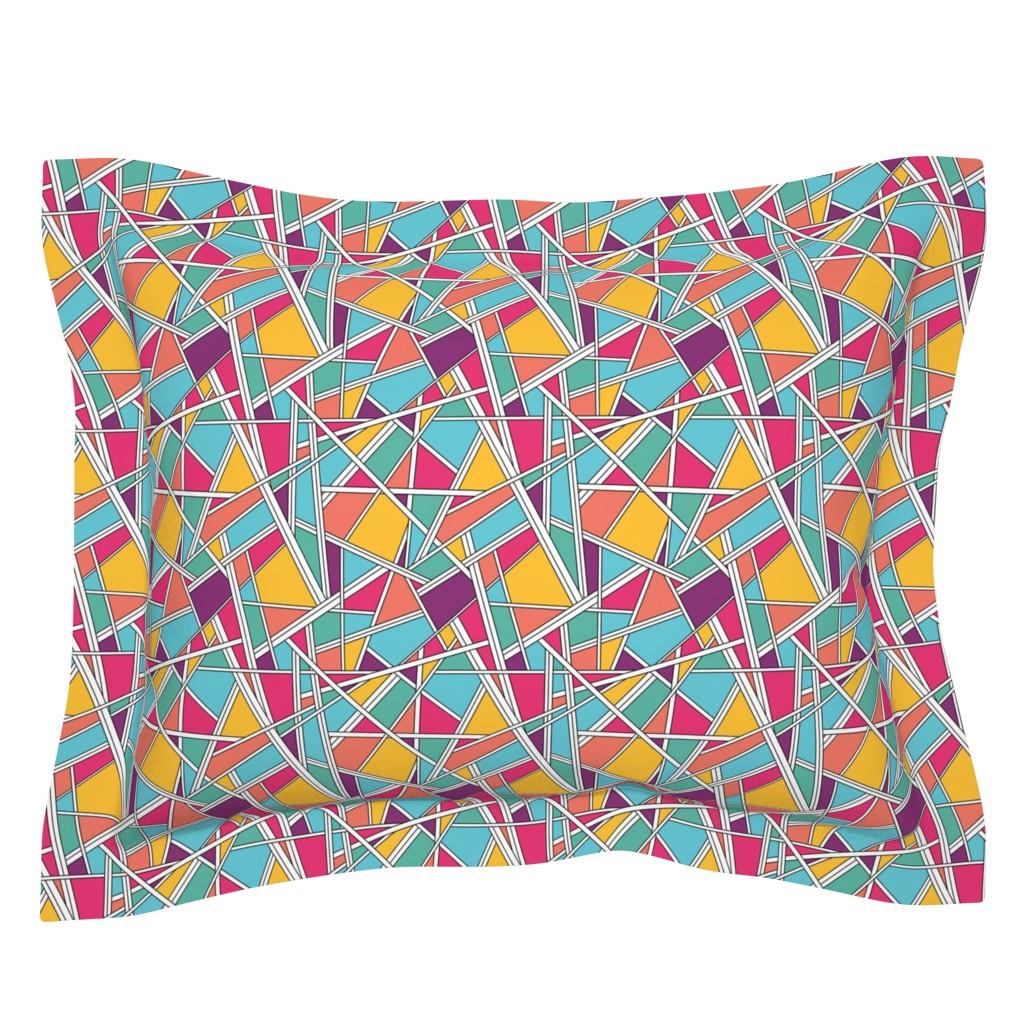 Sebright Pillow Sham featuring Kinda 80's by doodlena