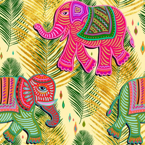bohemian paradise elephant palms with gold
