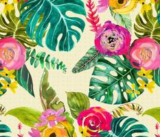 Boho Tropical Floral