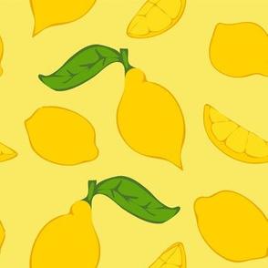 Meyer Lemons on Yellow