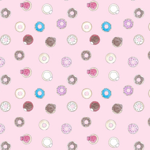 donuts on pink