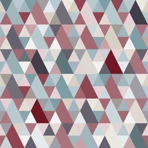 Red Teal Neutral Geometry IV