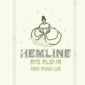 "Hemline Rye 18"" Pillow Panel | Cider Apple"