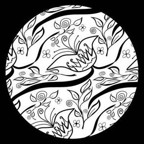 FloralCircleBlack