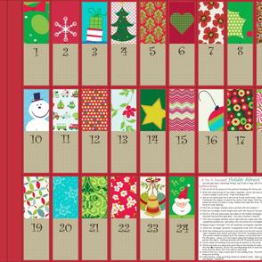 A Holiday Advent Calendar Bunting