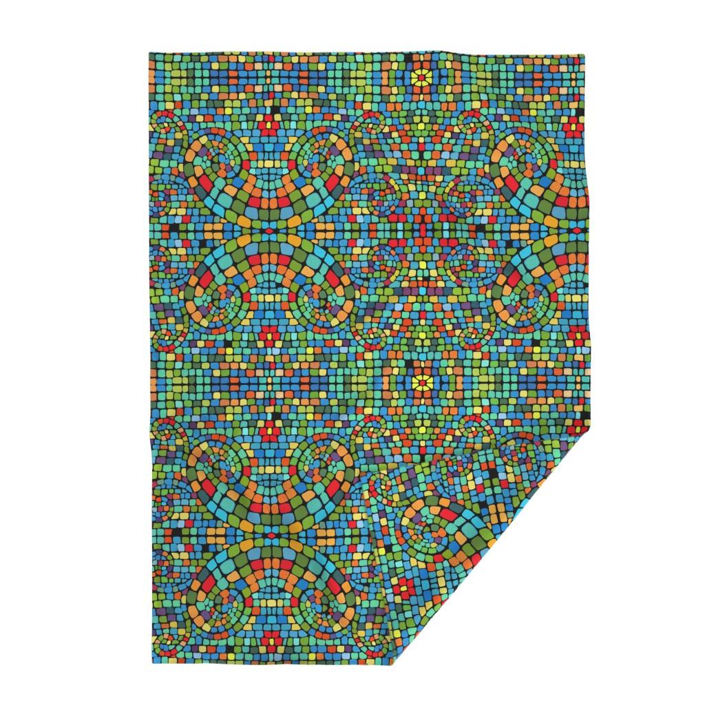 Lakenvelder Throw Blanket featuring vivid mosaic by designed_by_debby
