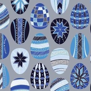 Spring Pysanky (Blue)