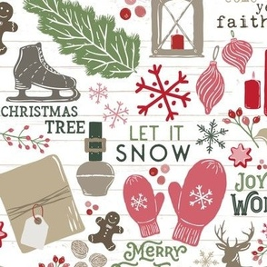Cozy Christmas Traditions // Happy Holidays // Christmas Trees, Carols, Greetings, Mulled Wine, Mittens, Bells, Gingerbread, Gifts, Jingle Bells, Ice Skates