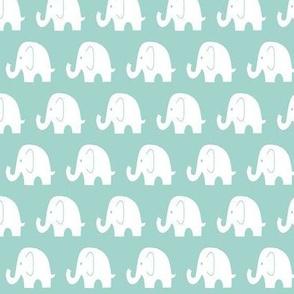 Reverse Little Mint Elephant