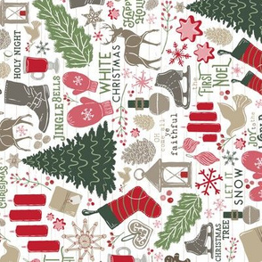 Cozy Christmas Traditions (Railroaded + Smaller Scale) // Happy Holidays // Christmas Trees, Carols, Greetings, Mulled Wine, Mittens, Bells, Gingerbread, Gifts, Jingle Bells, Ice Skates