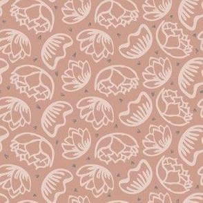 Dusty Rose Desert Flowers // Tossed Succulent Floral // ZirkusDesign
