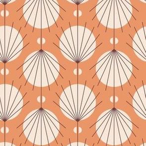 Art deco fan orange