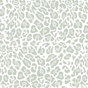 Leopard Spots Medium (Almost Aqua on White)